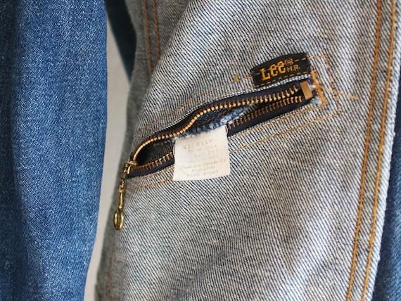 70s Lee reversible denim jacket / s - image 6