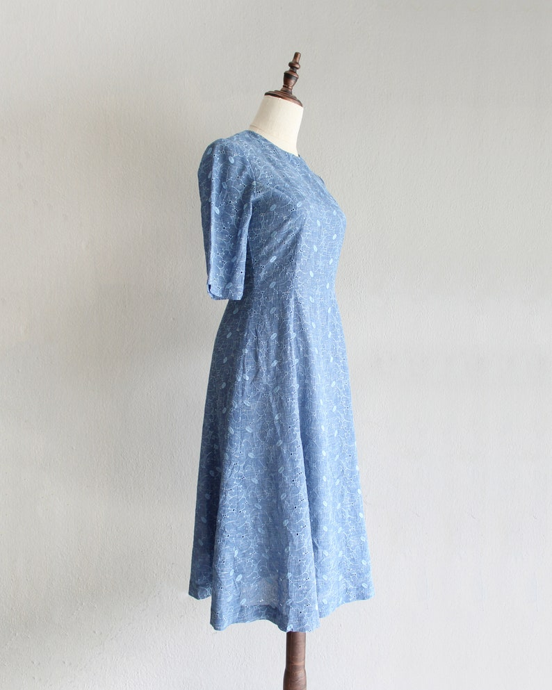 blue embroidered dress  xs s