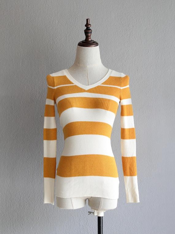 marigold striped jumper / xs - image 1