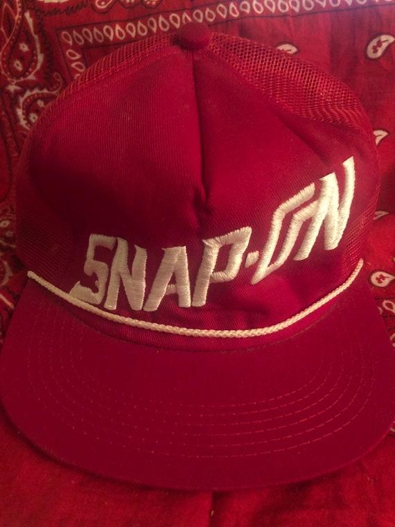 Vintage Snap-on Tools Red Kbrand Snapback hat made