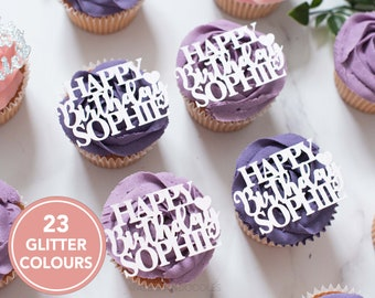Wedding Cupcake Toppers Custom cupcake topper Customised birthday decor,Personalised party decor,Personalised Cupcake Topper Name Toppers