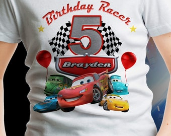 Cars Birthday Shirts For Toddlers 3