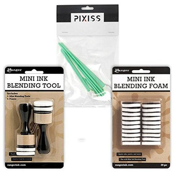 Glazes /& Paints 2 Mini Ink Blending Tools w// 20 Replacement Foam pcs for Inks