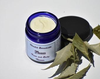NEEM CREAM | Skin + Hair Nourishing Cream | Handcrafted Botanical Skin Care | Neem, Lavender Hydrosol, Frankincense, Aloe Vera, 100% Natural