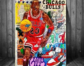 Poster XXL Pop Art Graffiti Abstract Flower Art Red Gold 60x30-140x70