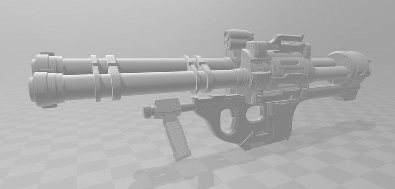 Halo M41 SSR Rocket Launcher 3D Model [Digital File - Split for Printing]