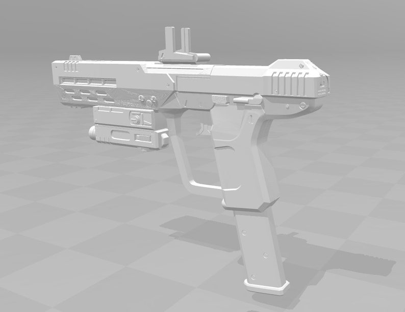 Halo ODST SOCOM M6C Pistol - 3D Model [Digital Files - Split for Printing]