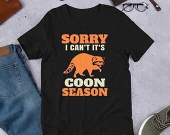 5ec31b27 Funny Coon Hunting Shirt - Raccoon Season Gift Tee - Hunter Humor  Short-Sleeve Unisex T-Shirt