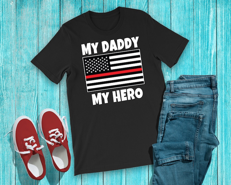 7db66ba9 Firefighter Son or Daughter Shirt Cute Thin Red Line Kids | Etsy