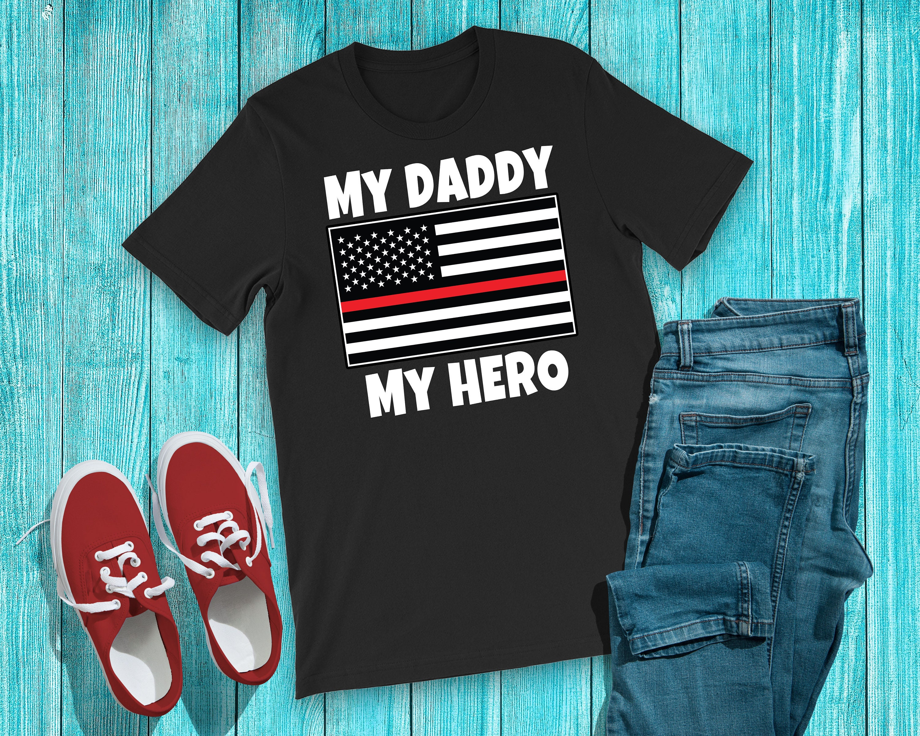 04c938167 Firefighter Son or Daughter Shirt Cute Thin Red Line Kids | Etsy