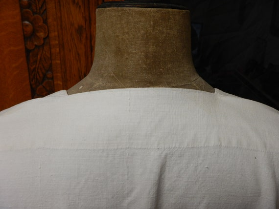 French Antique Hand Stitched Linen Night Shirt - … - image 8