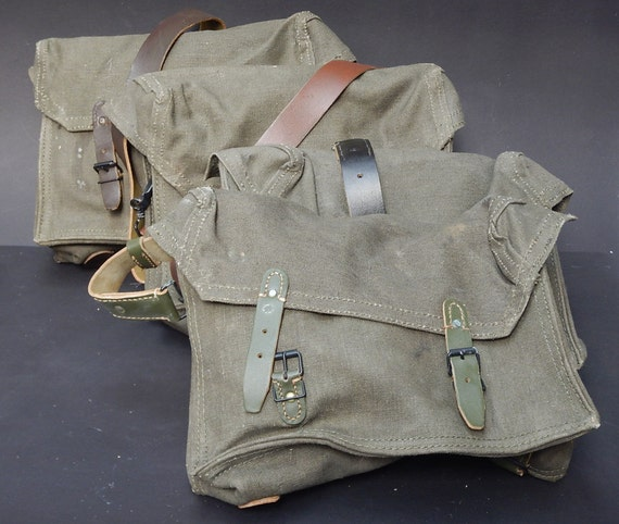 French Military Vintage Army Bag Shoulder / Messen