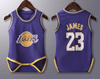 77133995dba0 baby lakers James jersey rompers Baby Jersey Fast Shipping Sizes Available
