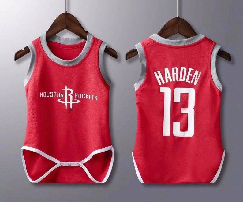 wholesale dealer 583cc 1c0d0 Baby Houston Rockets Harden jersey rompers Baby Jersey Fast Shipping Sizes  Available
