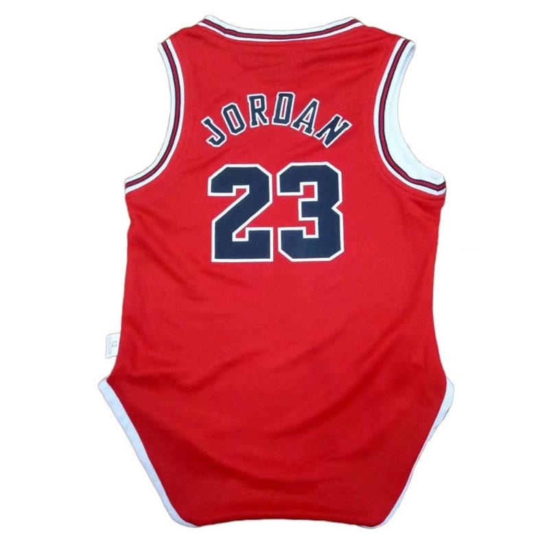 30ad792e10b Baby Michael Jordan jersey rompers Fan Jersey Fast Shipping | Etsy