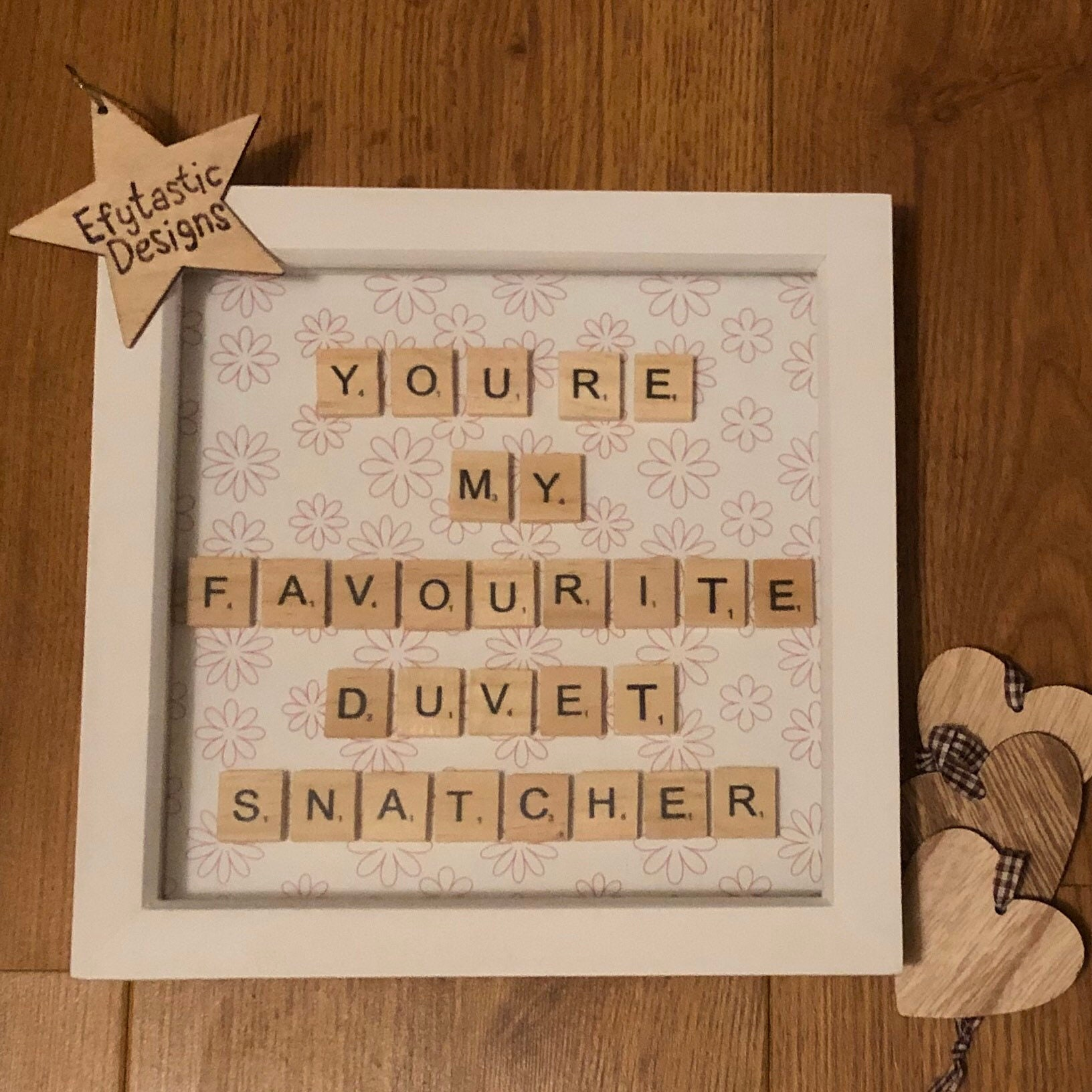 Perfect for any home. wooden letter quote 6x6 inch frame Bee Kind