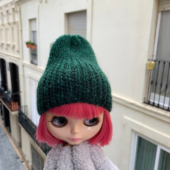 1//6 Trendy Woolen Hat Cap Clothes Accessories for Blythe Doll Dress Up Decor