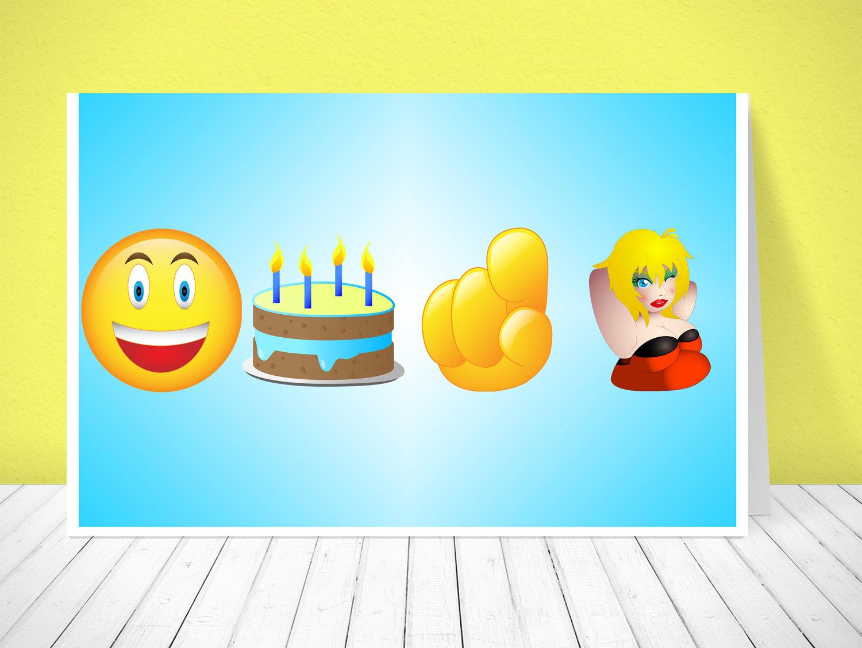 Happy Birthday You Slut Emoji Card Etsy Jpg 1500x1126 Cards Gifs Animated