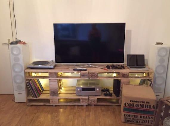 Tv Rack Palettenmobel Etsy