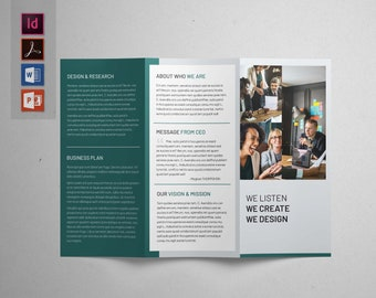 3 panel brochure etsy