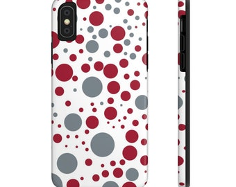 0299fac2c44 Crimson and Gray Crimson Tide Dot Design Case-Mate Tough Phone Cases