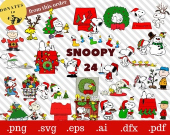 Snoopy Christmas Svg T Shirt Charlie Brown Decoration Clipart Joe Cool Dfx