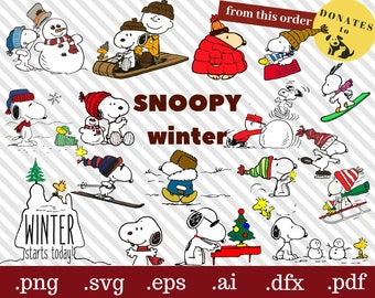 Winter Svg Sled Snoopy Christmas T Shirt Charlie Brown Clipart Joe Cool Dfx