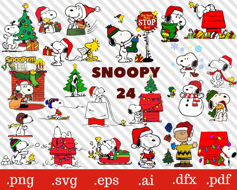 snoopy svg snoopy christmas svg charlie brown svg snoopy t | Etsy