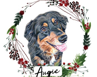 Dog Ornament Personalized, Customized Ornament