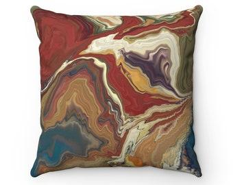 Rust Brown Swirl Throw Pillow, Autumn Decorations, Autumn Pillow, Fall Decor, Home Decor, Gift For Her