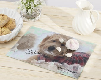 Customized Cutting Board, gift for her, glass cutting board, kitchen decor, personalized photo