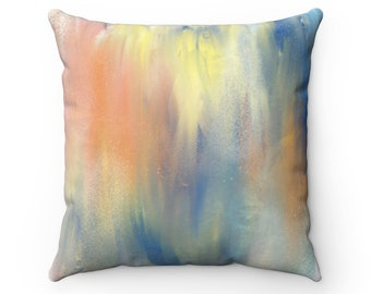 Meltdown the Wall, Orange and Blue Pattern Pillow, Gift for Her, Housewarming Gift, Pillow Decor, home decor, pattern