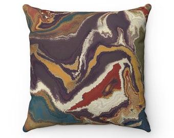 Blue Swirl Throw Pillow, Autumn Decorations, Autumn Pillow, Fall Decor, Home Decor, Gift For Her