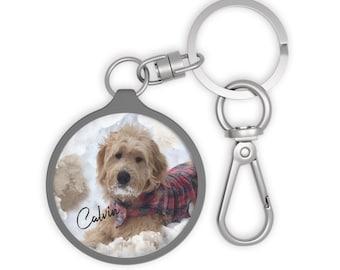 Customized Dog Key Fob, personalized dog, customized pet portrait, custom dog, gift for her