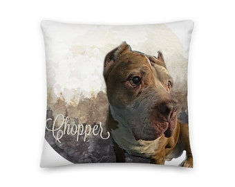 Custom Pet Portrait Pillow, Personalized Pet Pillow, Dog Lover, Home Decor, Gift For Her