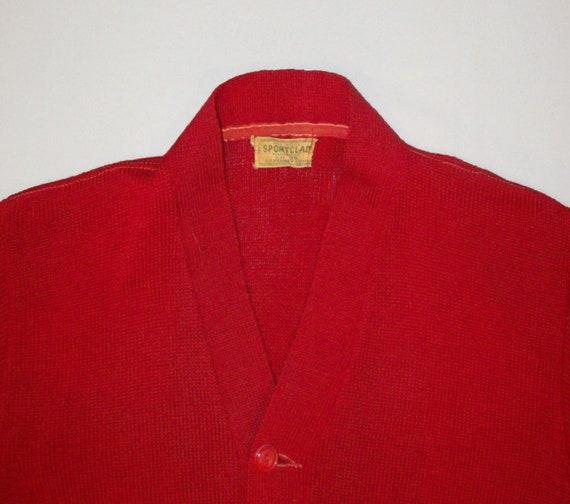 Old Vtg 1950s Letterman Varsity Sweater Size 38 S… - image 4