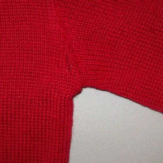 Old Vtg 1950s Letterman Varsity Sweater Size 38 S… - image 9