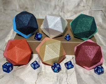Gift Set: 6 D&D Bath Bombs with 1 set of RPG dice (Goodberry Spells)