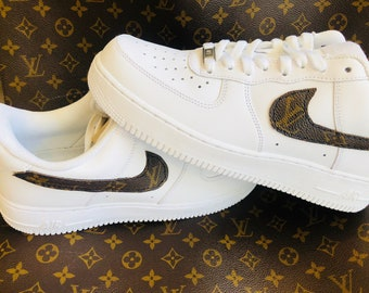 d46502a00ea7 UPCYCLE Louis Vuitton Air Force Ones