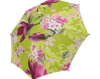 Spring/Summer Umbrella, Rainwear, Semi-Automatic Foldable Umbrella