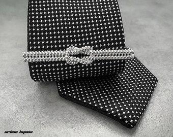 58afe6548e45 Rope Knot Tie Bar Mens Tie Bar Womens Tie Bar Groomsman Tie Bar Grooms Tie  Bar Tie Clip Mens Tie Clip Womens Tie Clip Business Bar Silver