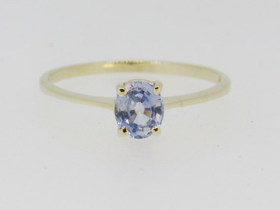 Tanzanite Solitaire Yellow Gold Ring - image 3