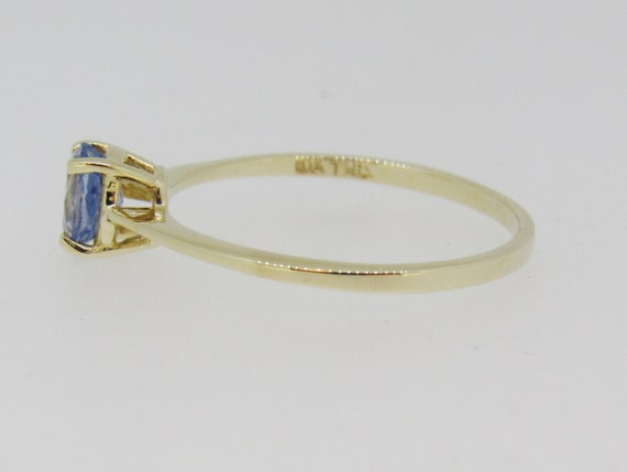 Tanzanite Solitaire Yellow Gold Ring - image 6