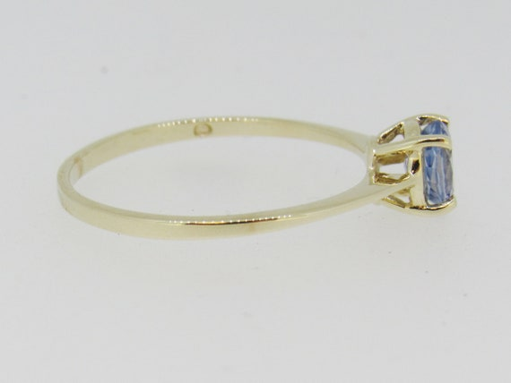 Tanzanite Solitaire Yellow Gold Ring - image 4