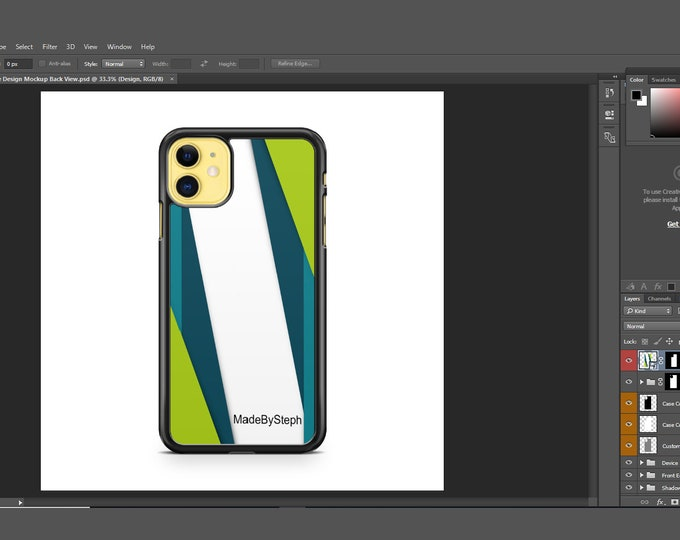 Sublimation iphone 11 case template mockup | Add your own image and background