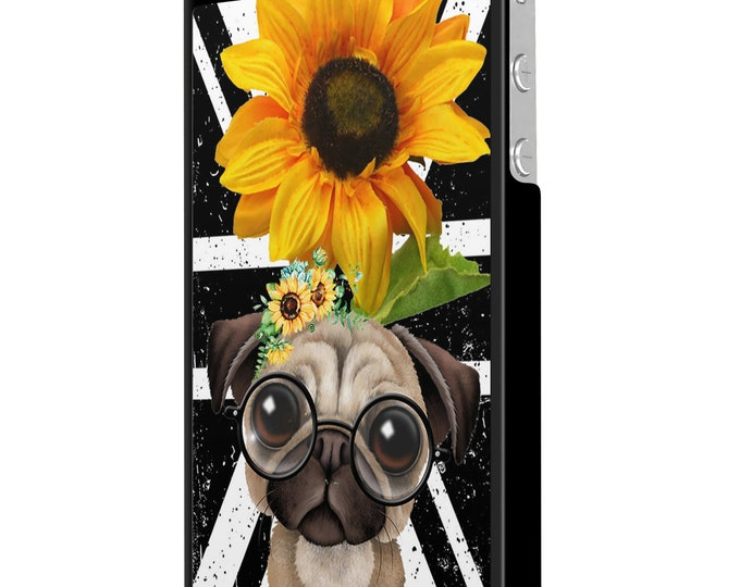 sunflower | pug | dog | union jack | iPhone Samsung Galaxy Phone Case