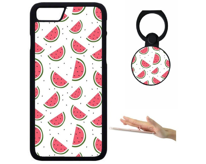 Melon iPhone Samsung Galaxy Rubber TPU Phone Case With Ring Holder