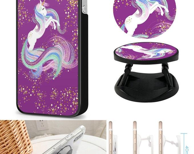 Unicorn Case & Expanding Phone Holder  iPhone Samsung Galaxy Phone Case