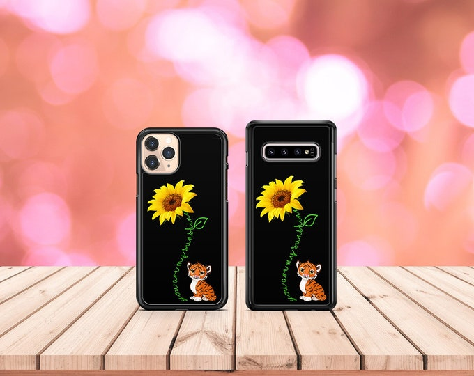 You are my sunshine | sunflower | tiger | iPhone Samsung Galaxy Phone Case