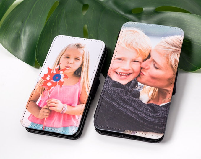 Personalised Custom Photo Phone Flip Wallet case Universal case